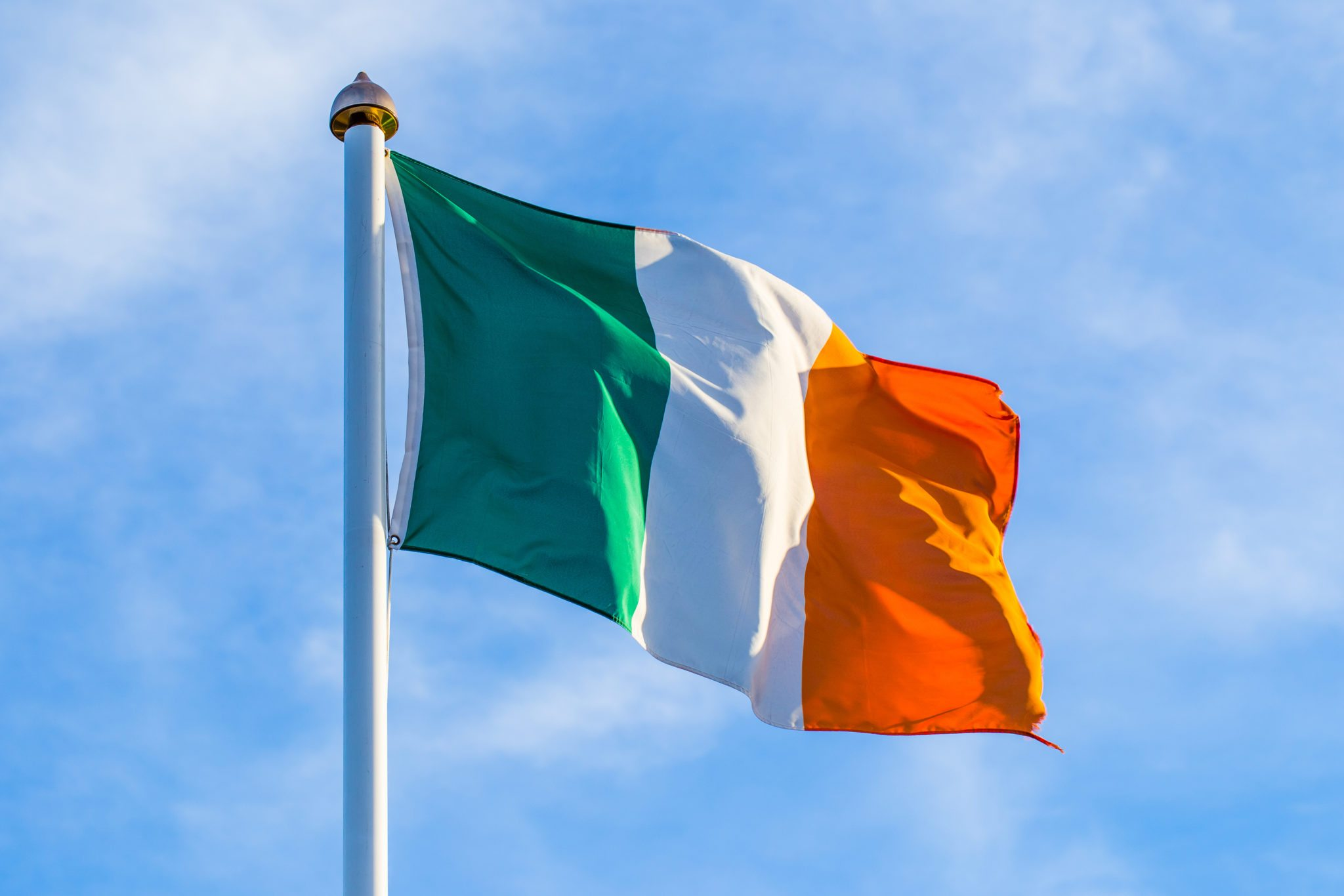 Irish Flag Waving In The Wind - The Hottinger Group