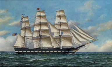 The Hottinguer, commanded by Captain Bursley in 1845